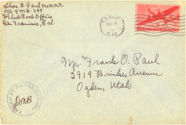 Envelope (front); December 17, 1944