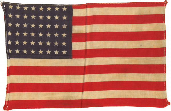 48-Star, Handheld, American Parade Flag