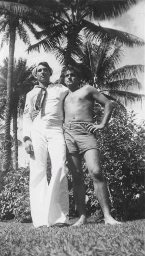 Richard Millington George, S1c, of Los Angeles, CA and CDP; 1944, Hawaii