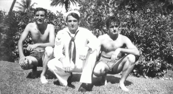 'Bill' William L. McIntyre, Richard M. George and CDP; 1944, Hawaii