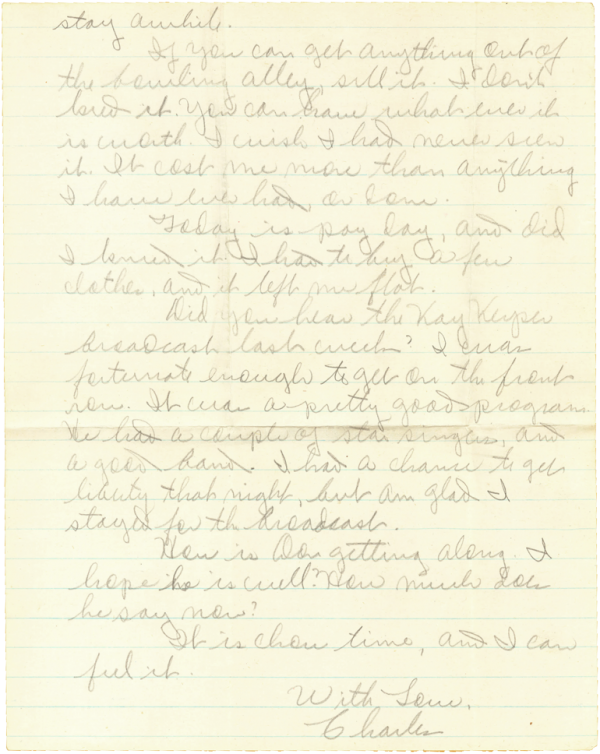 Letter home, page 2; May 16, 1944