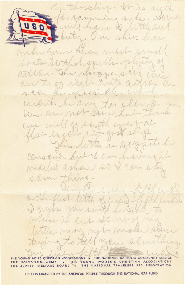Letter home, page 2; June 29, 1944