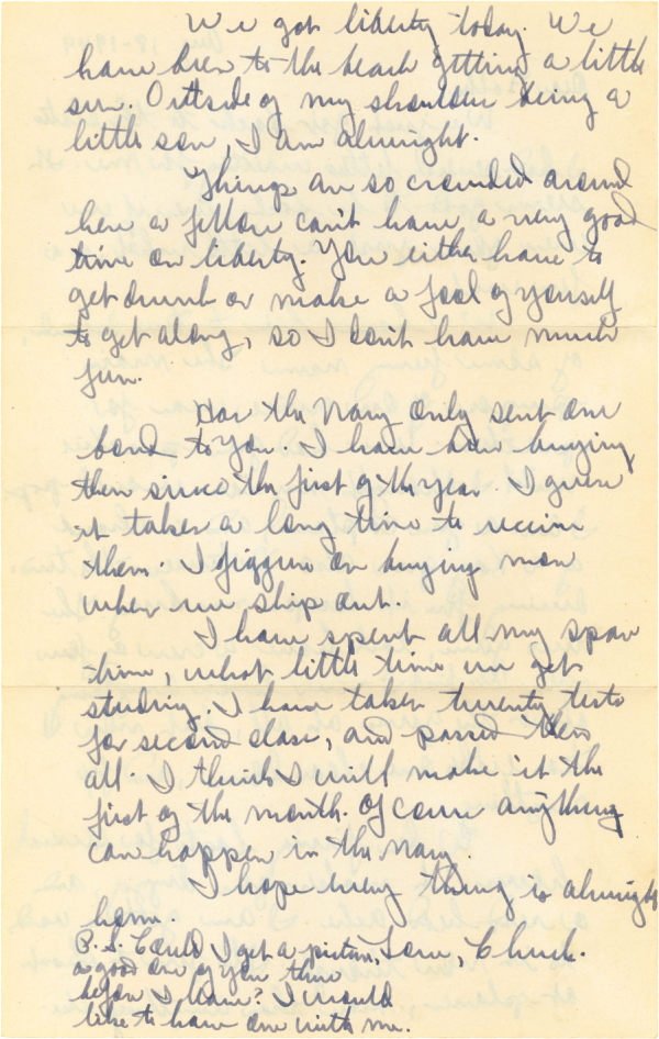 Letter home, page 2; August 18, 1944