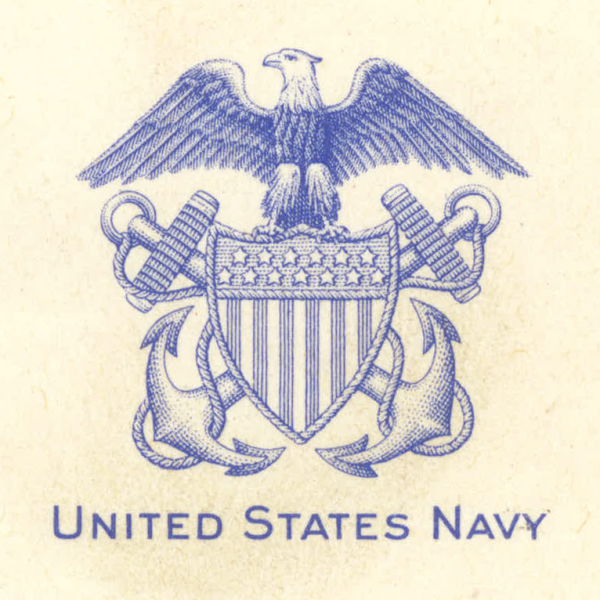 Letterhead illustration; eagle, shield and anchors