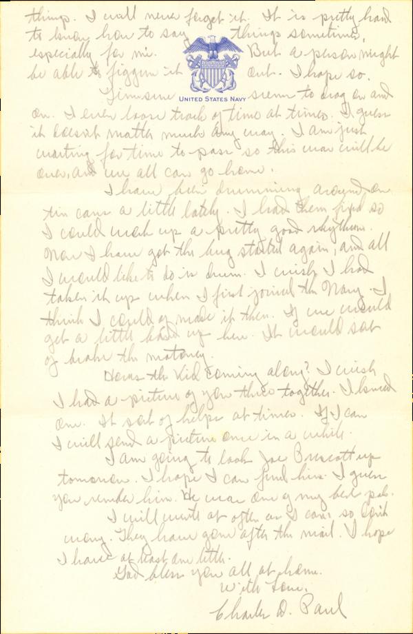 Letter home (page 2); September 3, 1944