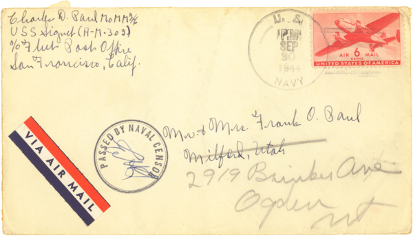 Envelope (front); September 27, 1944