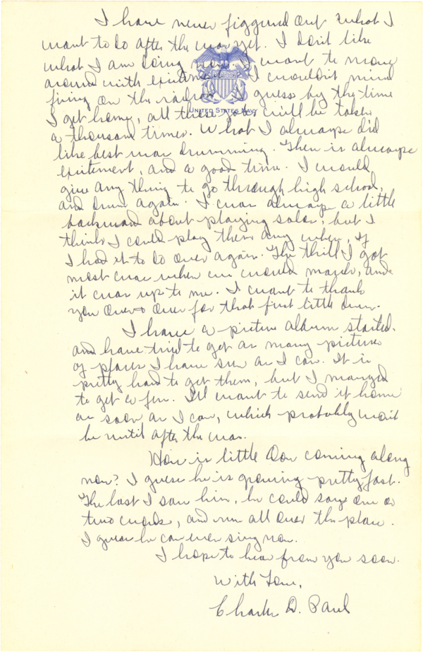 Letter home (page 2); September 27, 1944