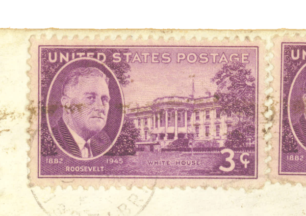 3 cents; Roosevelt, White House