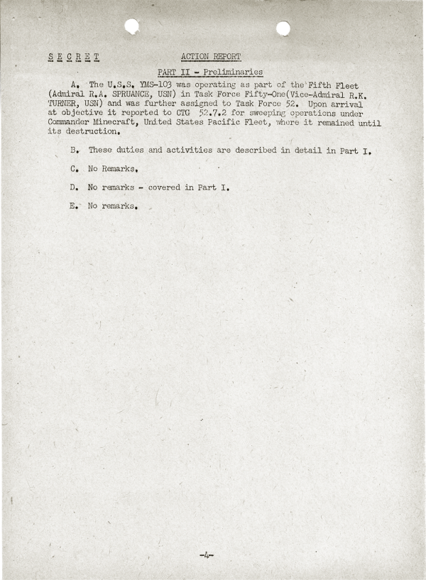 YMS-103 Action Report; April 25, 1945; Part II