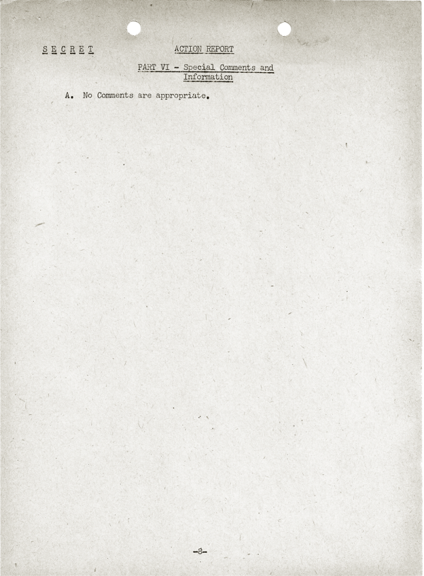 YMS-103 Action Report; April 25, 1945; Part VI