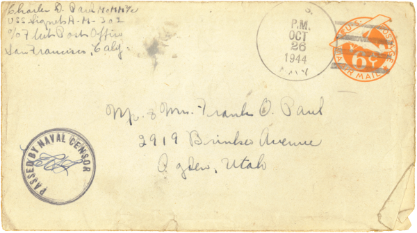 Envelope (front); October 24, 1944