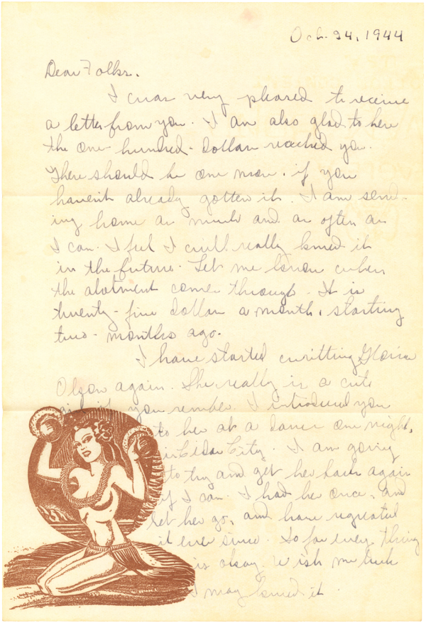 Letter home (page 1); October 24, 1944