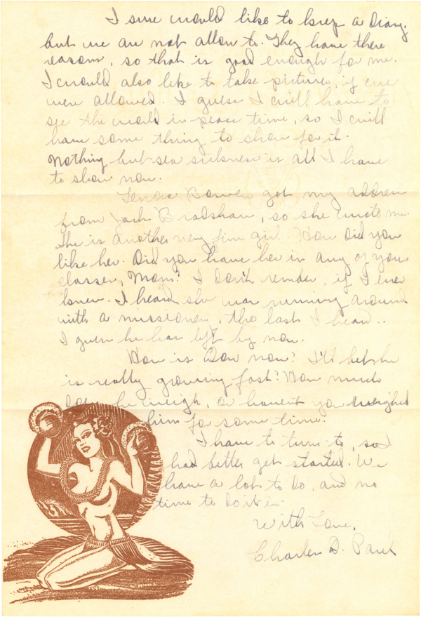 Letter home (page 2); October 24, 1944