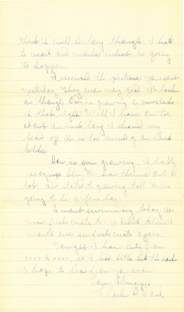 Letter home (page 2); November 6, 1944