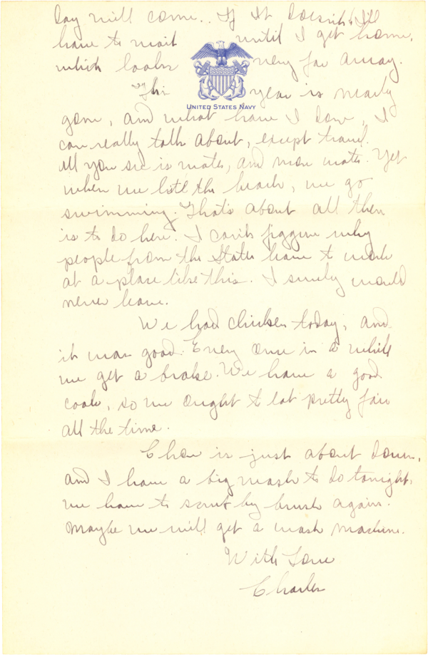 Letter home (page 2); November 12, 1944
