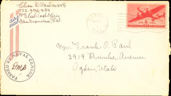 Envelope (front); December 5, 1944
