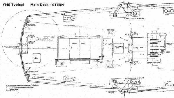 YMS-135 Blueprint; Main Deck Stern