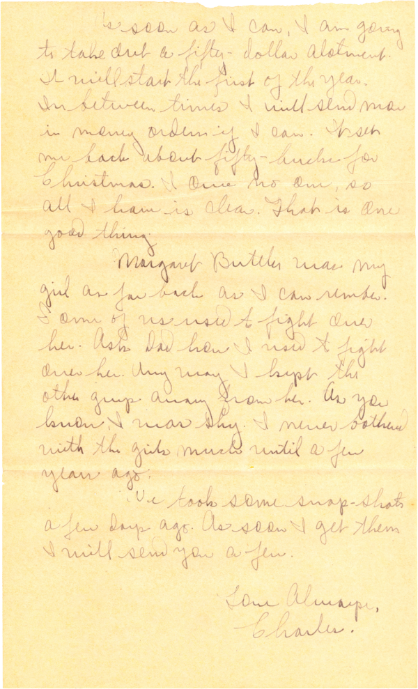 Letter home (page 2); December 10, 1944