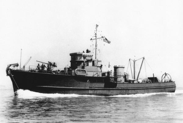 YMS-299 in Oakland, CA; 1942