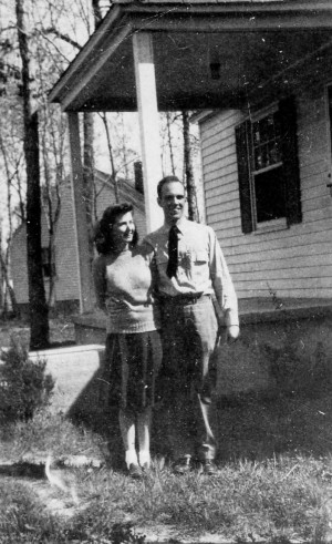 Muriel and Marty; first home in Little Creek, VA