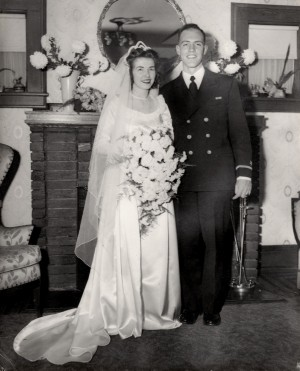 Muriel and Marty; Little Creek, VA; married, Dec 10, 1944
