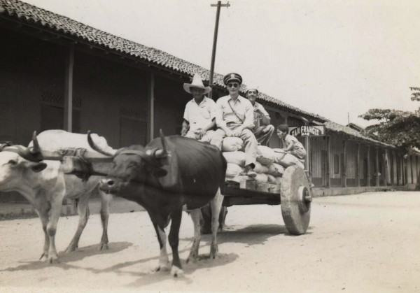 Nicaragua; Dark officer's hat: Clint J Hill, Ensign (Communications Officer); local transport, 1945