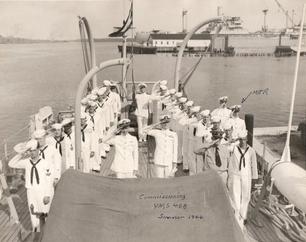 YMS-468 commissioning with crew; Jacksonville, FL; August 31, 1944